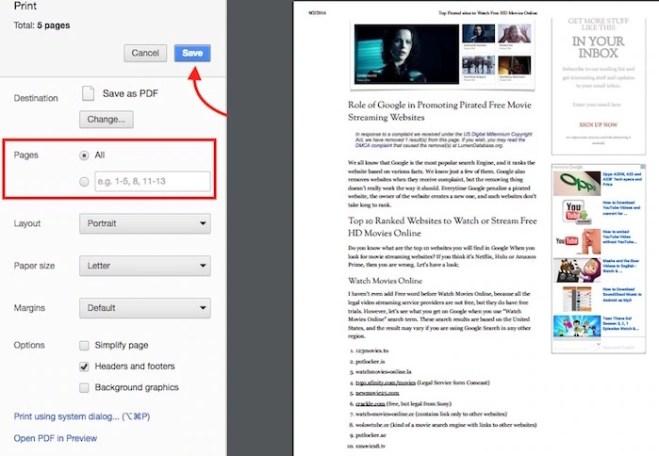 Save Webpage as PDF