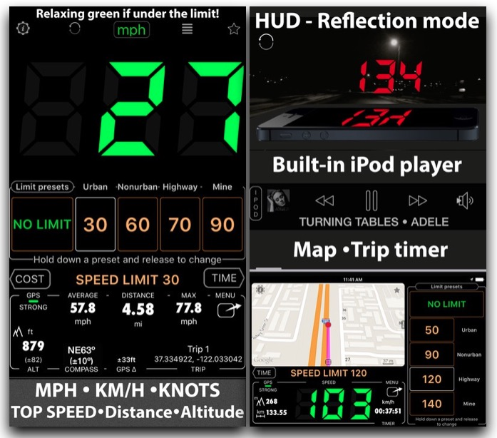 Best Free GPS Speedometer apps for iPhone & Android