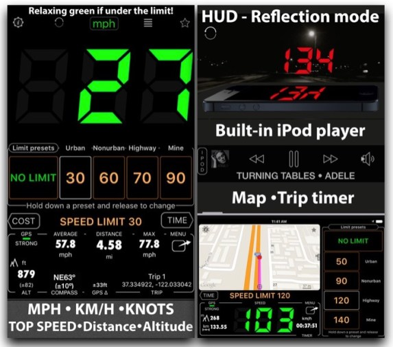 Speedometer app for iOS