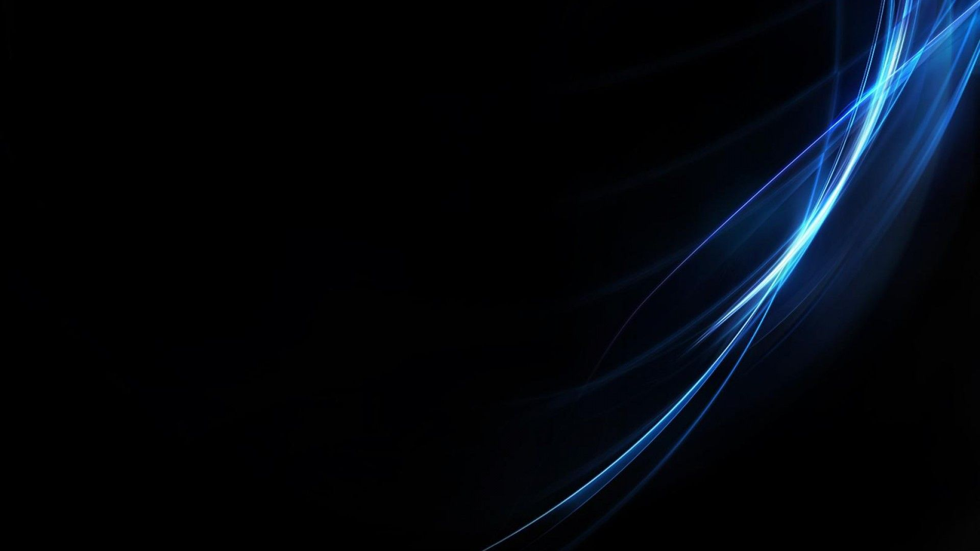 Xperia style blue Black Wallpaper