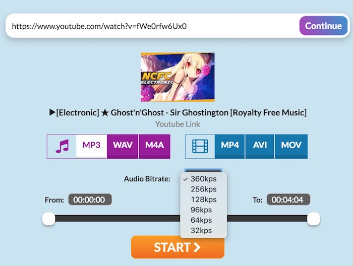mov to mp3 online