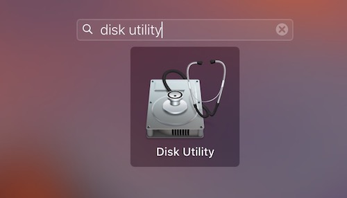Disk Utility Open