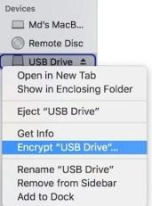 Encrypt USB Drive or external drive mac