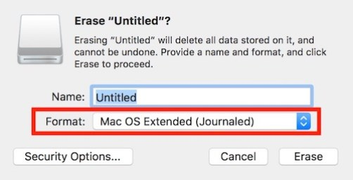 Mac Formatted Disk
