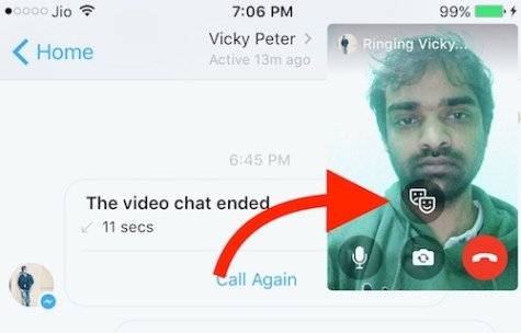 Adding Filter to Messenger Video Call