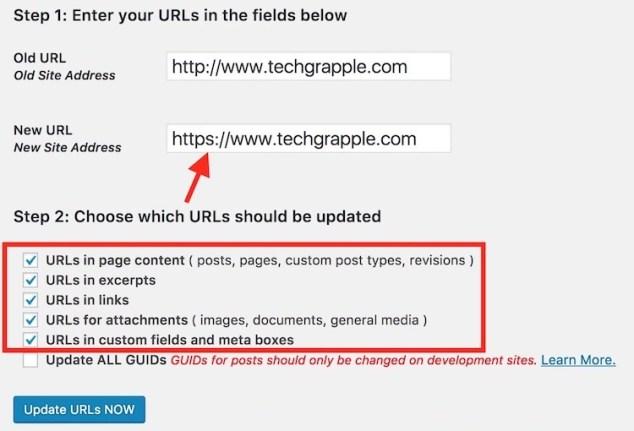 Update WordPress URL