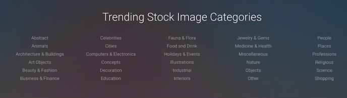 category of stock images