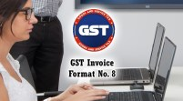 GST Invoice Format in Excel, Word, PDF and JPEG (Format No. 8)