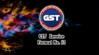GST Invoice Format in Excel, Word, PDF and JPEG (Format No. 12)