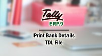 Print Bank Details Add-on TDL File for Tally ERP 9