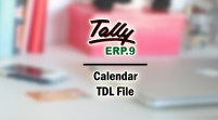 Calendar Add-on TDL File for Tally ERP 9