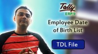 Employee Date of Birth List (Tally ERP 9 Add-on .tdl File)