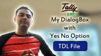 My DialogBox with Yes No Option (Tally ERP 9 Add-on .tdl File)