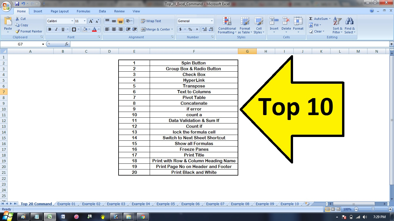 Top 20 Advanced Excel Tips In Hindi