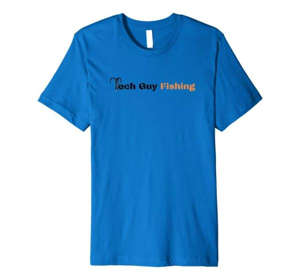 Tech Guy Fishing Premium T-Shirt Royal Blue