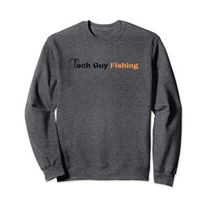 Tech Guy Fishing Sweatshirt Dark Heather