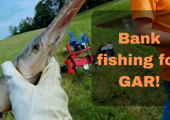 Bank fishing for Gar