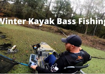Winter Kayak Bass Fishing Lake Conroe