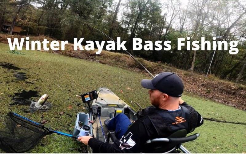 Winter Kayak Bass Fishing Lake Conroe