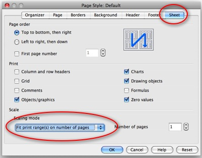 How to shrink worksheet for printing in Calc – OpenOffice - Techie ...