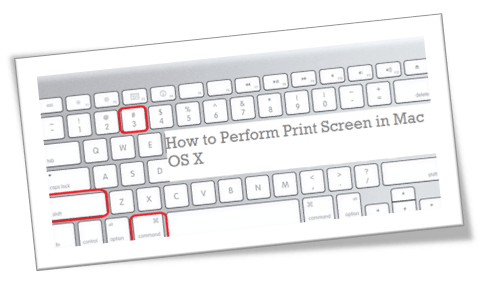 How to Perform Print Screen in Mac OS X