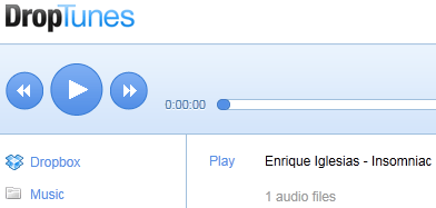 Listen to music from Dropbox 2
