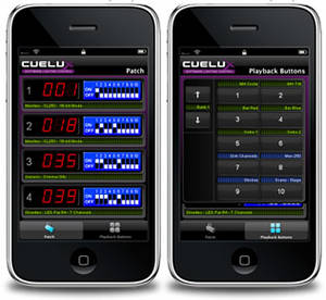 Cuelux offers an iPhone riggers remote