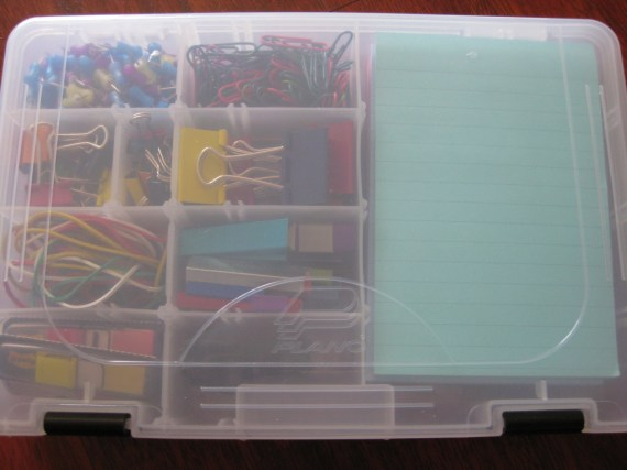 Contents of the top tray