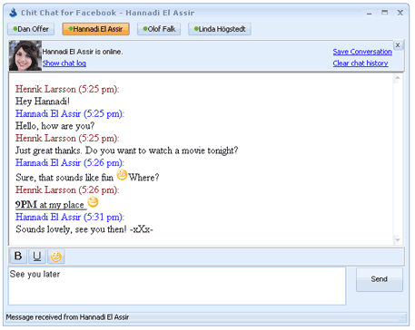 Chit Chat Facebook Chat Window