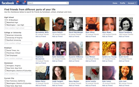 Discover New Or Old Friends on Facebook Using Facebook Friend Browser