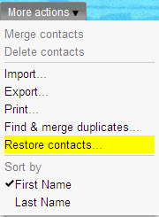 gmail recover deleted contacts