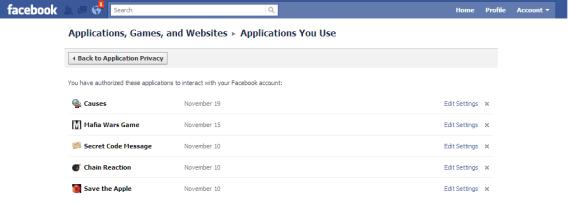 uninstall facebook apps