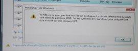 Convertir une table de partition MBR en GPT lors de l'installation de Windows