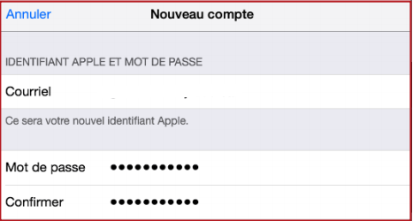 Inscription Compte Apple