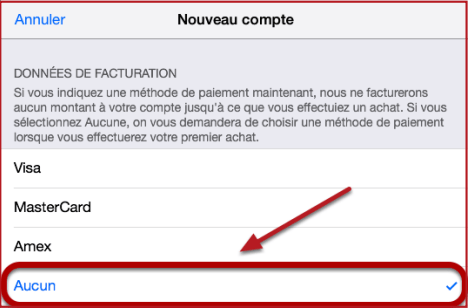 Methode de paiement Apple Store