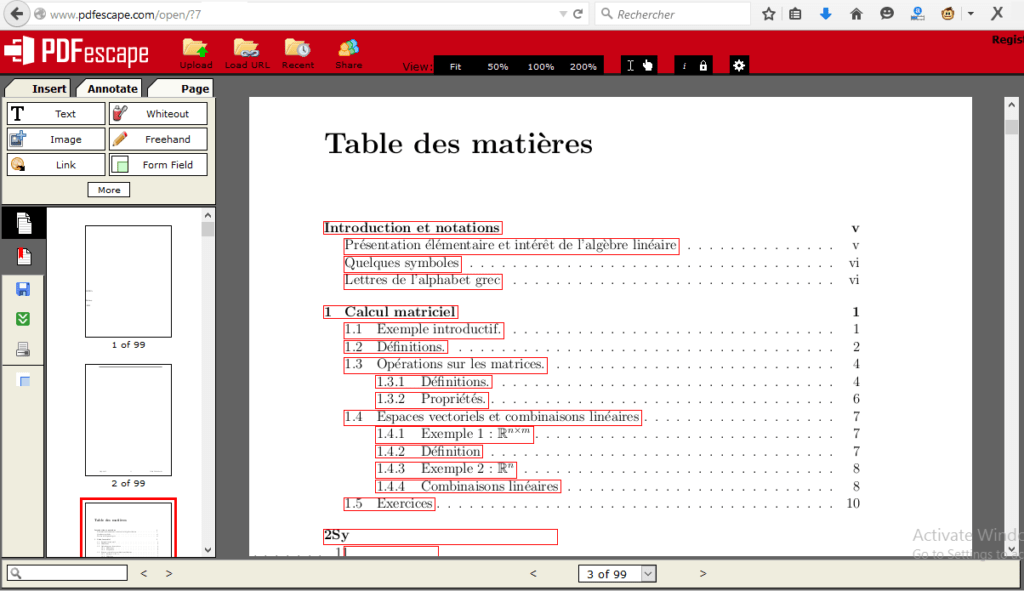 Editeur PDF en ligne PDFescape