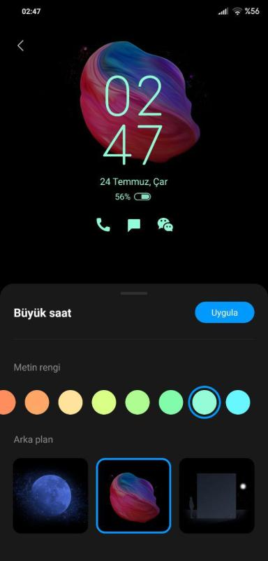 Xiaomi MIUI 11 Always On Display