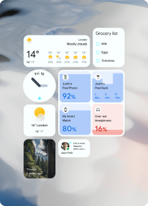 Android 12 Blue Widgets