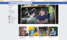 Facebook watch on desktop or laptop Watchlist