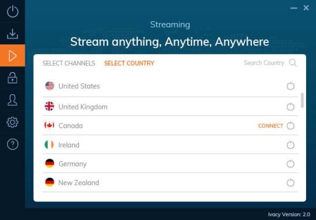 ivacy vpn Stream any where