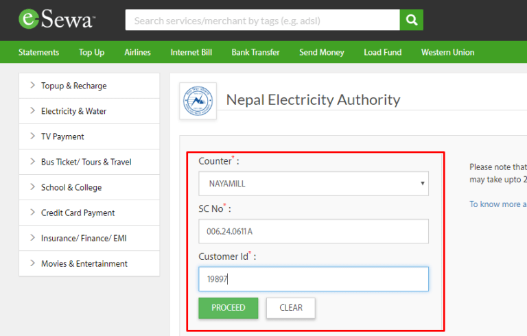 Techinfo Nepal - Pay Electricity Bill Online In Nepal