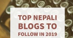 Top Nepali Blogs to Follow in 2019 5