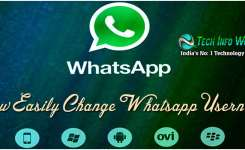How Easily Change The Whatsapp Username