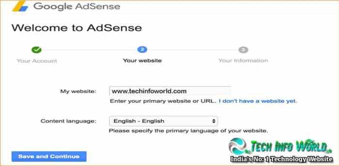 Google-Adsense-account-website