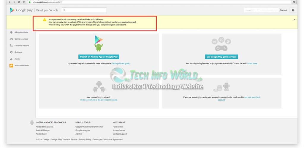 Google Play Developer Console Account Login