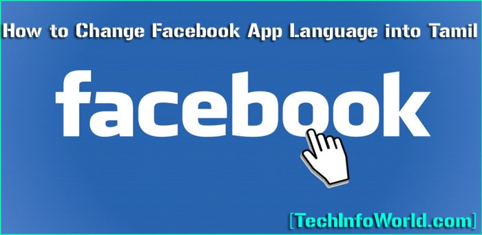 How to Change Facebook App Language into Tamil