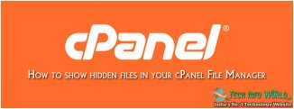 How to show hidden files in your cPanel File Manager