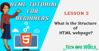 structure of html webpage