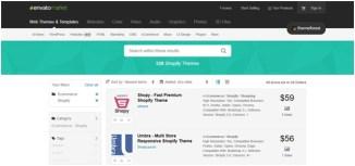 shopify envanto market