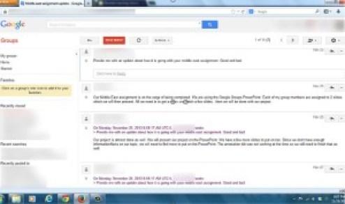 Google Groups Example